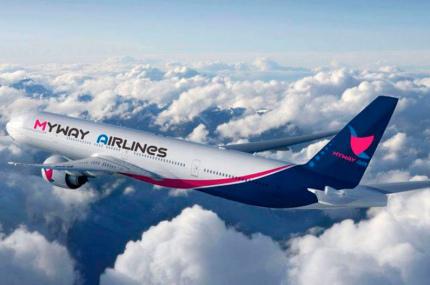 Myway Airlines будет летать в Будапешт