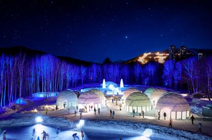 На японском курорте откроется ледяная деревня