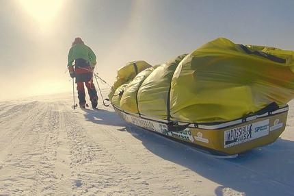 Человек впервые пересёк Антарктиду без сопровождения