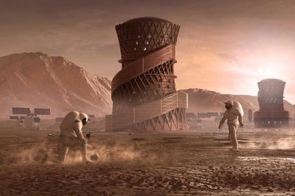Представлен концепт жилья колонии астронавтов на Марсе