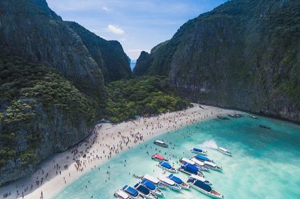 Пляж Майя Бэй в Таиланде останется закрытым ещё на пять лет