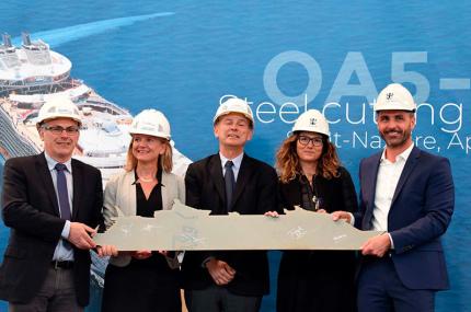 Начал строится новый самый большой в мире круизный лайнер