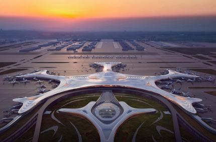 В Китае построят аэропорт в форме снежинки