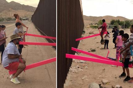 На границе США и Мексики разместили смысловую инсталляцию