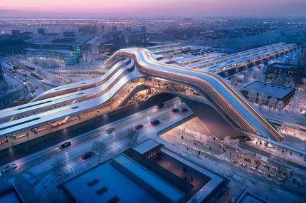 Студия Захи Хадид представила проект ж/д терминала в Таллинне