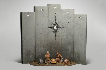 Banksy переделал рождественский вертеп в Вифлееме