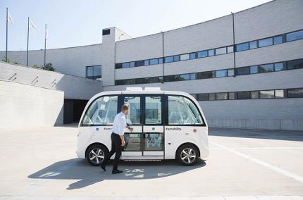 В аэропорту Таллинна будут тестировать беспилотные автобусы