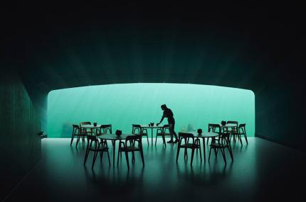 Подводный ресторан в Норвегии получил звезду Мишлен