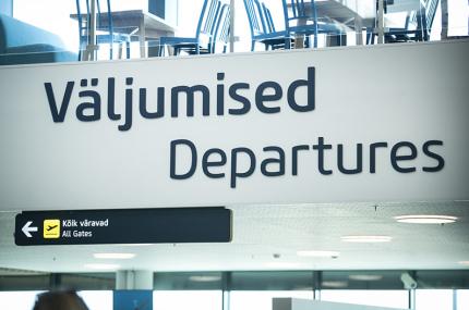 В торговом центре Таллинна открылся пункт регистрации на рейс