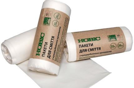 Украинский завод выпустил пакеты из кукурузного крахмала