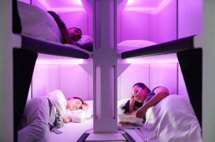В самолётах Air New Zealand появятся похожие на плацкартные места