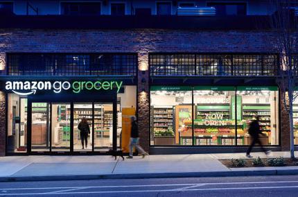 Amazon открыл крупный супермаркет без касс