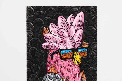 В Австралии открылась выставка картин, нарисованных углём с мест лесных пожаров