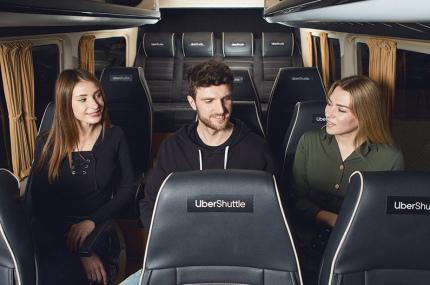 Uber Shuttle будет ездить в пригороды Киева