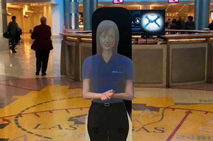 Аэропорт Лас-Вегаса обслуживают ассистенты-голограммы