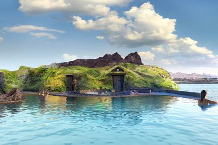 В Исландии строят геотермальнаю лагуну с видом на океан