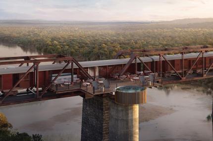 В ЮАР откроется отель в поезде посреди моста
