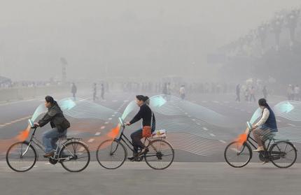 Новые велосипеды очищают городской воздух от смога