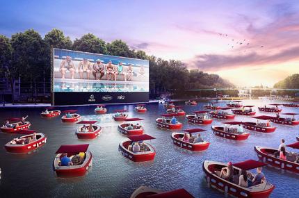 В Париже откроется плавучий кинотеатр