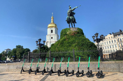 В Киеве заработал прокат электросамокатов от Bolt