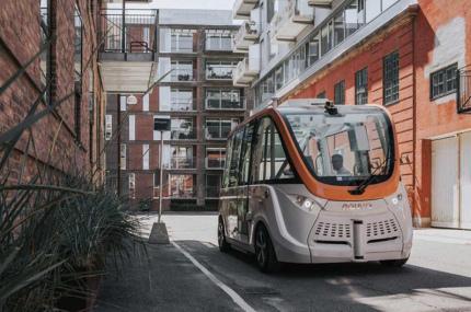 На улицах Копенгагена запустили беспилотный автобус