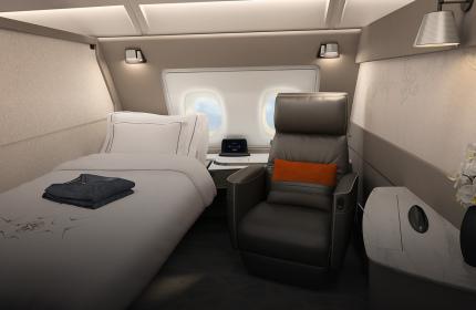 Singapore Airlines представила новый салон с кроватями в самолетах