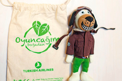 Turkish Airlines дарит маленьким пассажирам экологичные игрушки