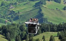 В горах Швейцарии запускают фуникулёр-кабриолет